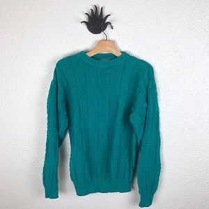 VINTAGE   Christopher Hayes green knit sweater
